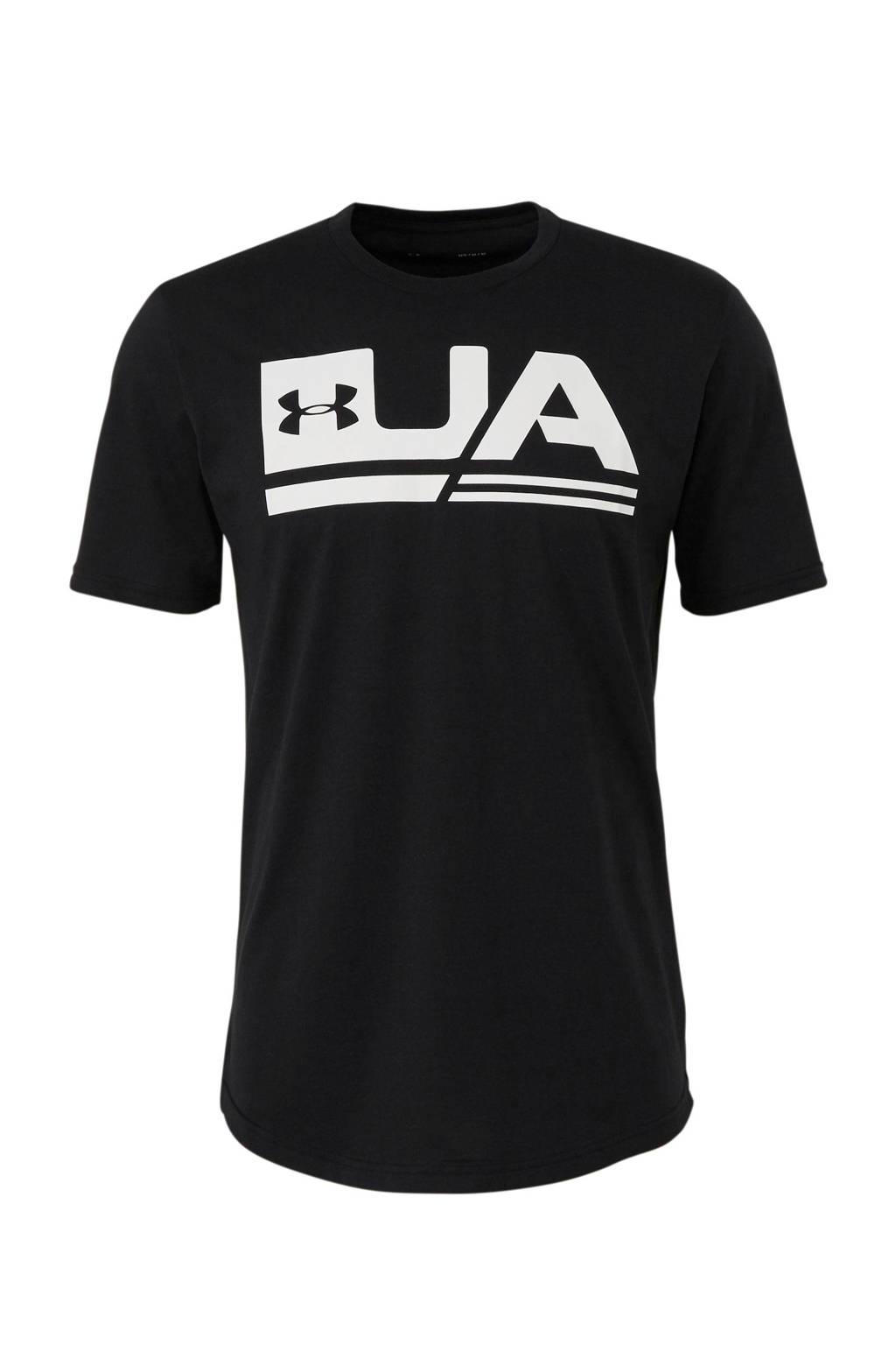 Under Armour   sport T-shirt zwrt, Zwart/wit