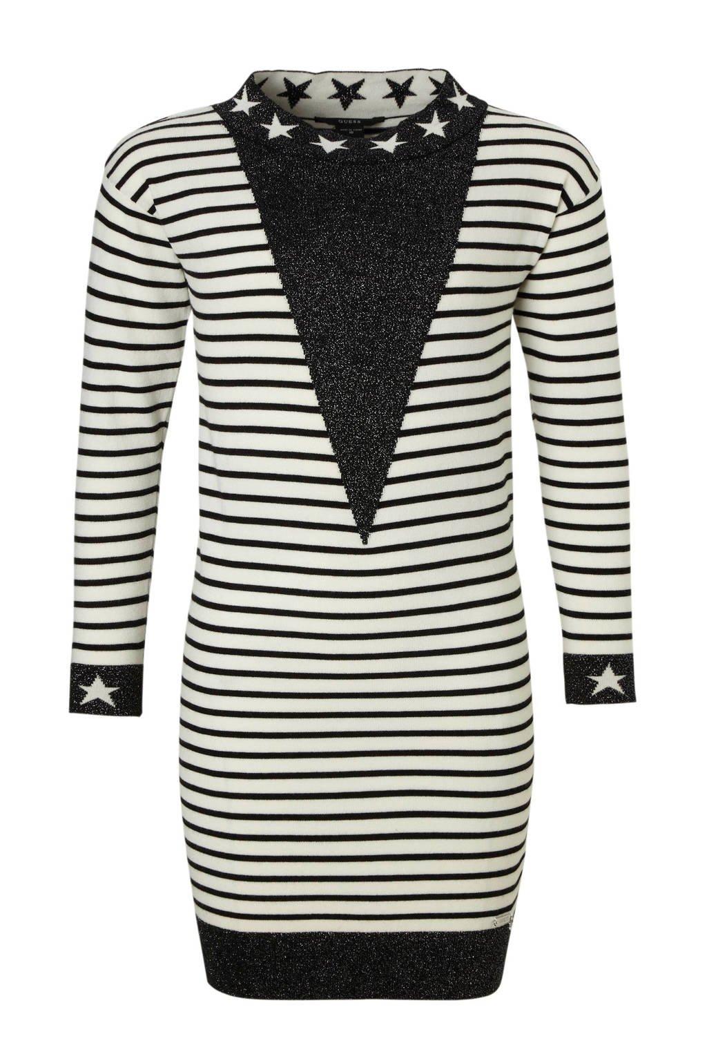 GUESS gebreide jurkmet glitters, zwart/ wit