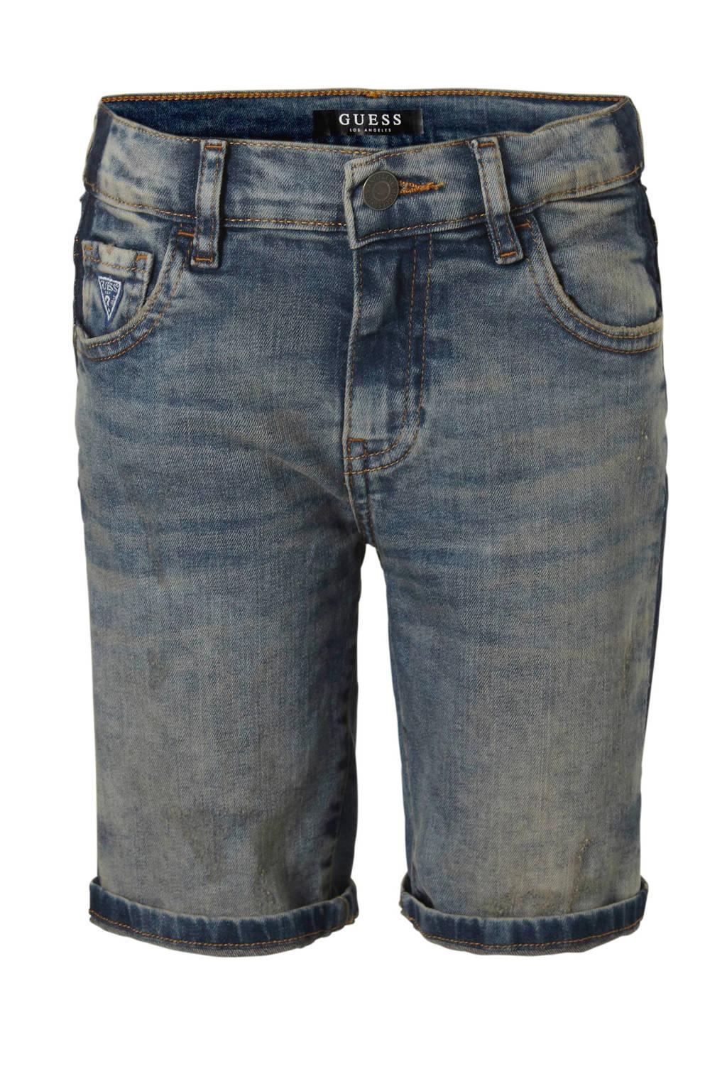 GUESS jeans bermuda met zijstreep, Stonewashed