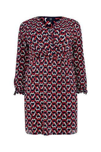 Plus jurk met een all over print