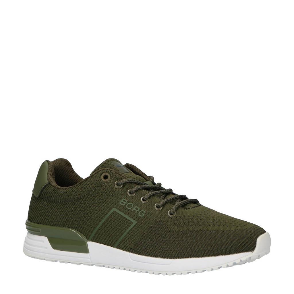 Björn Borg  R107 LOW KNT M sneakers groen, Groen/wit