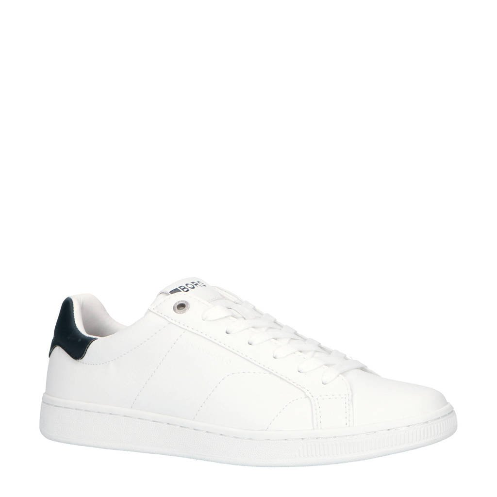 Björn Borg  T305 LOW CLS M sneakers wit/blauw, Wit/donkerblauw