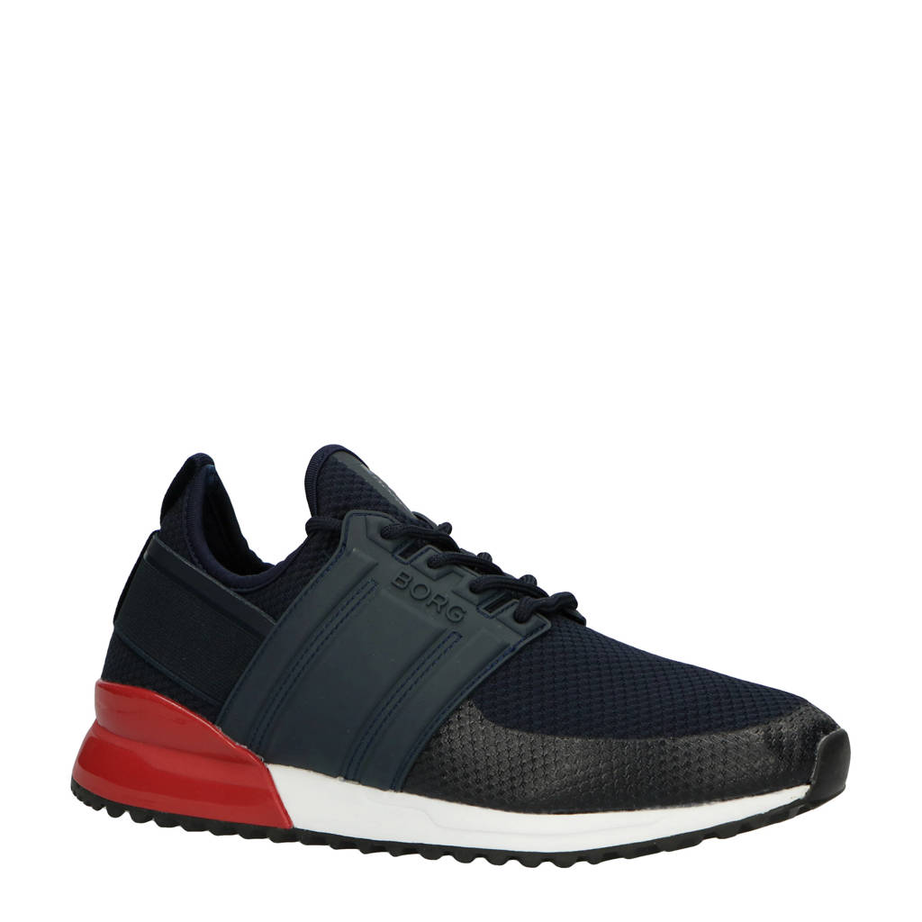 Björn Borg  R220 LOW SCK TMS M sneakers donkerblauw, Donkerblauw/rood