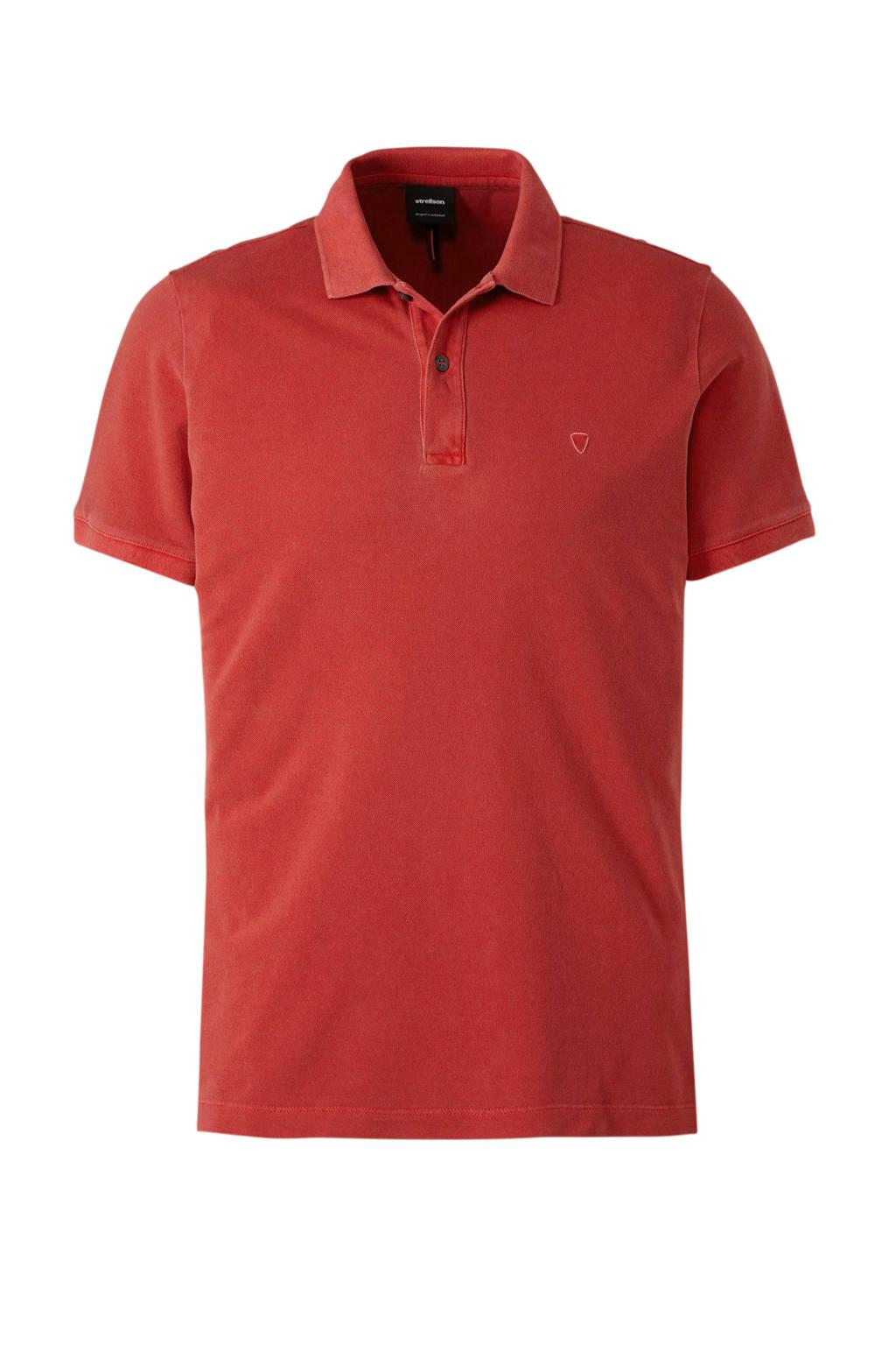 Strellson regular fit polo rood, Rood