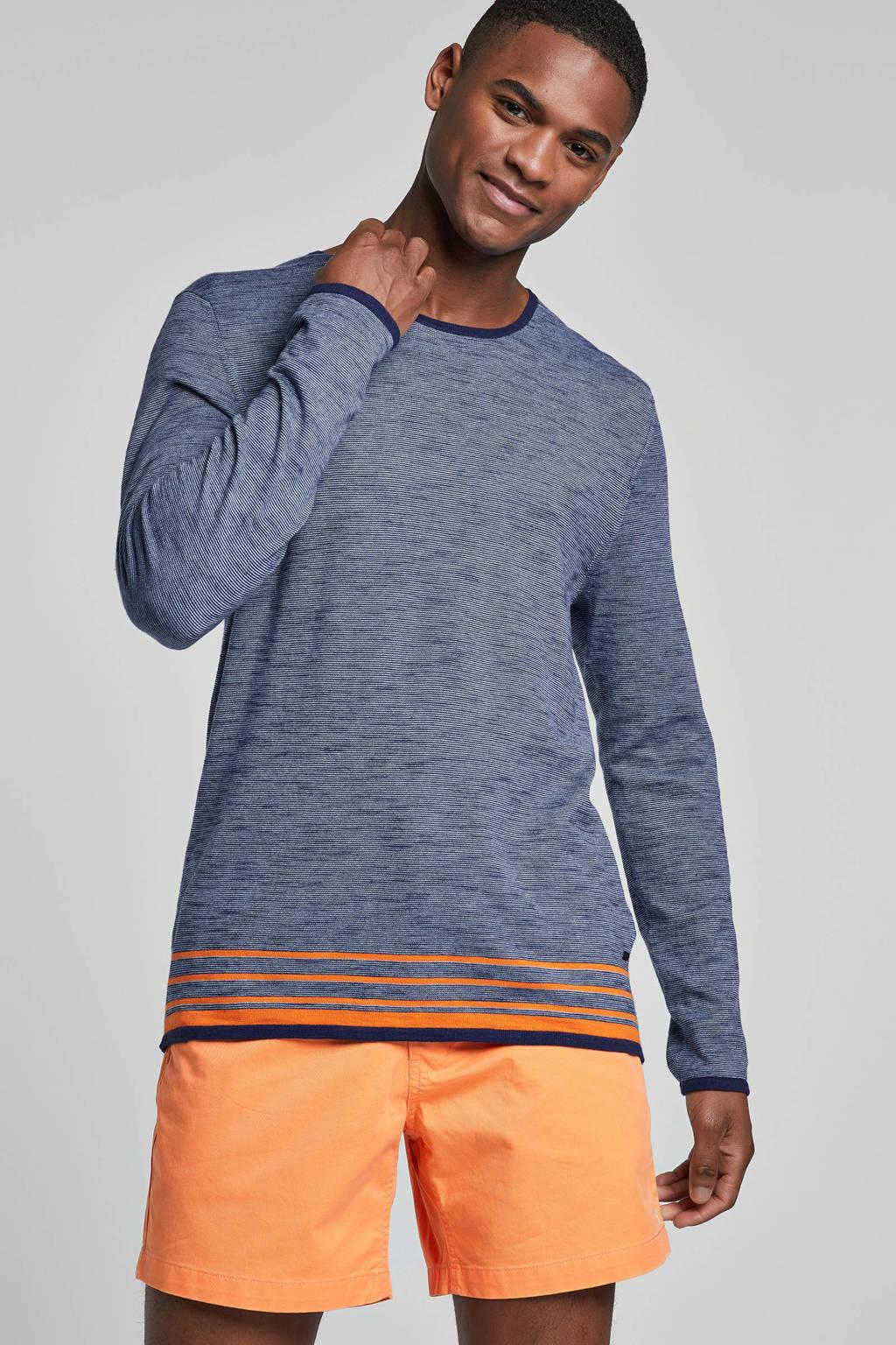 Strellson gestreept T-shirt blauw, Blauw