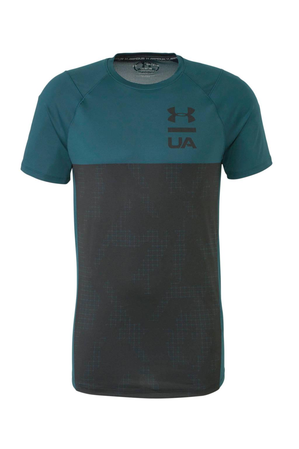 Under Armour   T-shirt donkergroen/zwart, Donkergroen/zwart