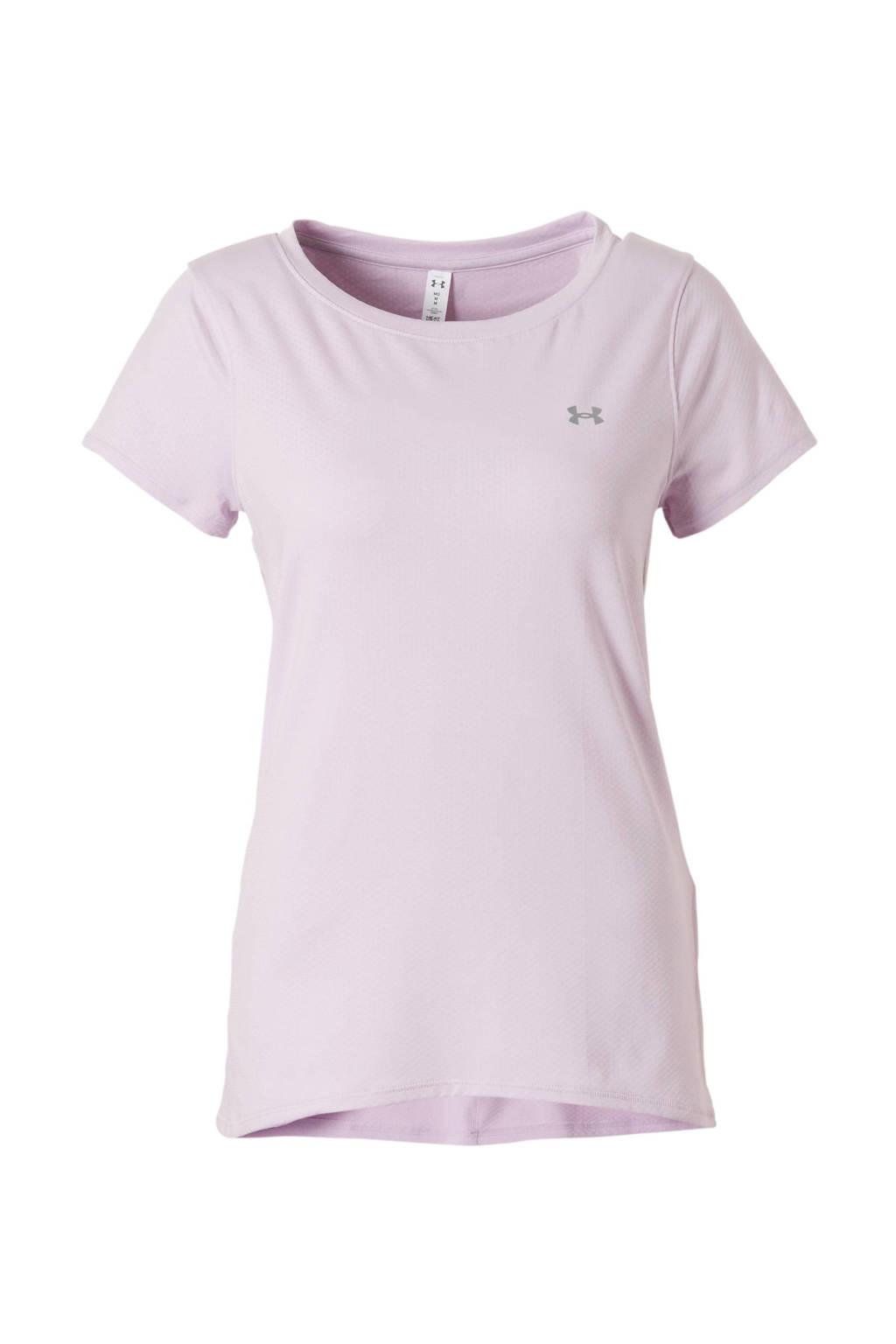 Under Armour sport T-shirt lichtroze, Lichtroze