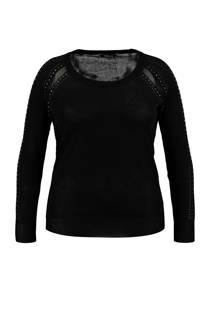 MS Mode trui met studs details zwart (dames)