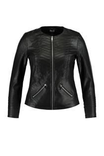 MS Mode jasje met geribte structuur zwart (dames)