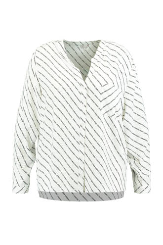 blouse met tekstopdruk ecru