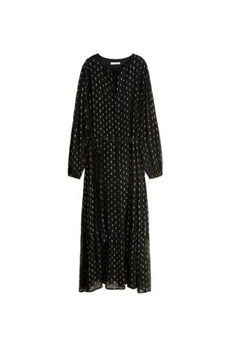jurk van jacquard zwart