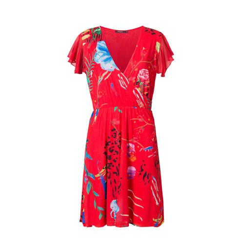 Desigual jurk met all over print rood