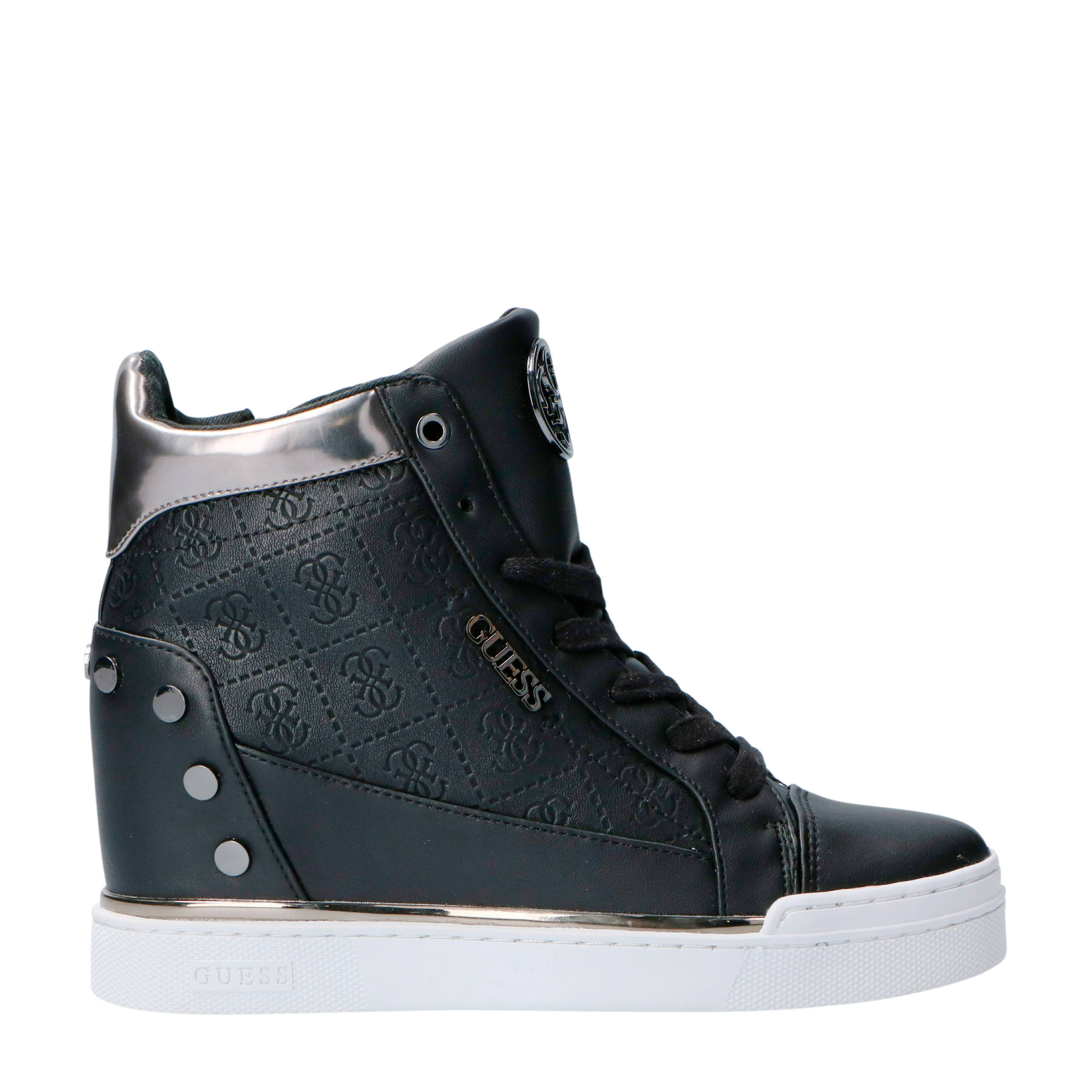 58461425cd20d GUESS Finly wedge sneakers zwart