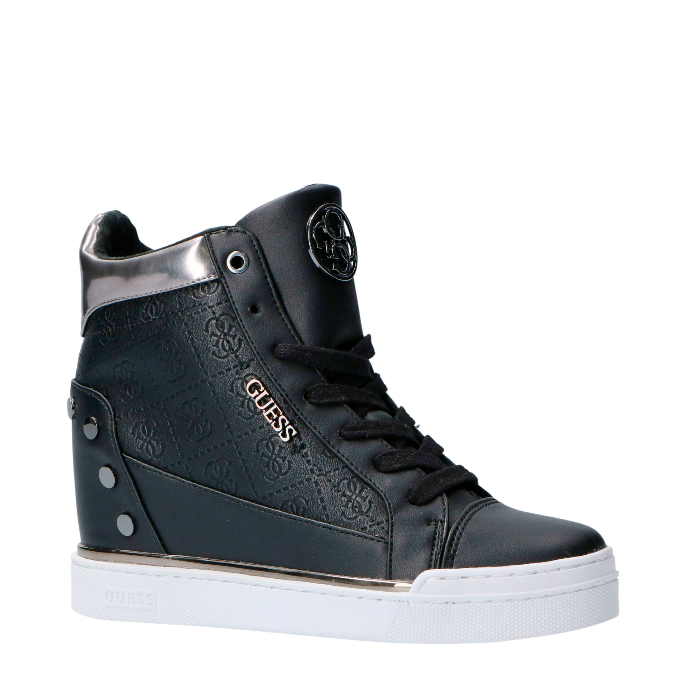 GUESS Finly wedge sneakers zwart | wehkamp