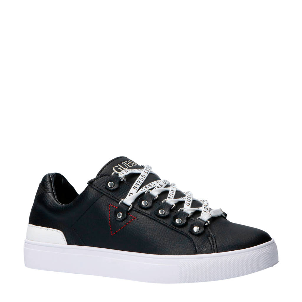 GUESS  sneakers zwart, Zwart/wit