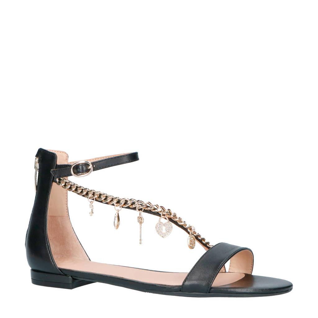 GUESS sandalen zwart/goud, Zwart/goud