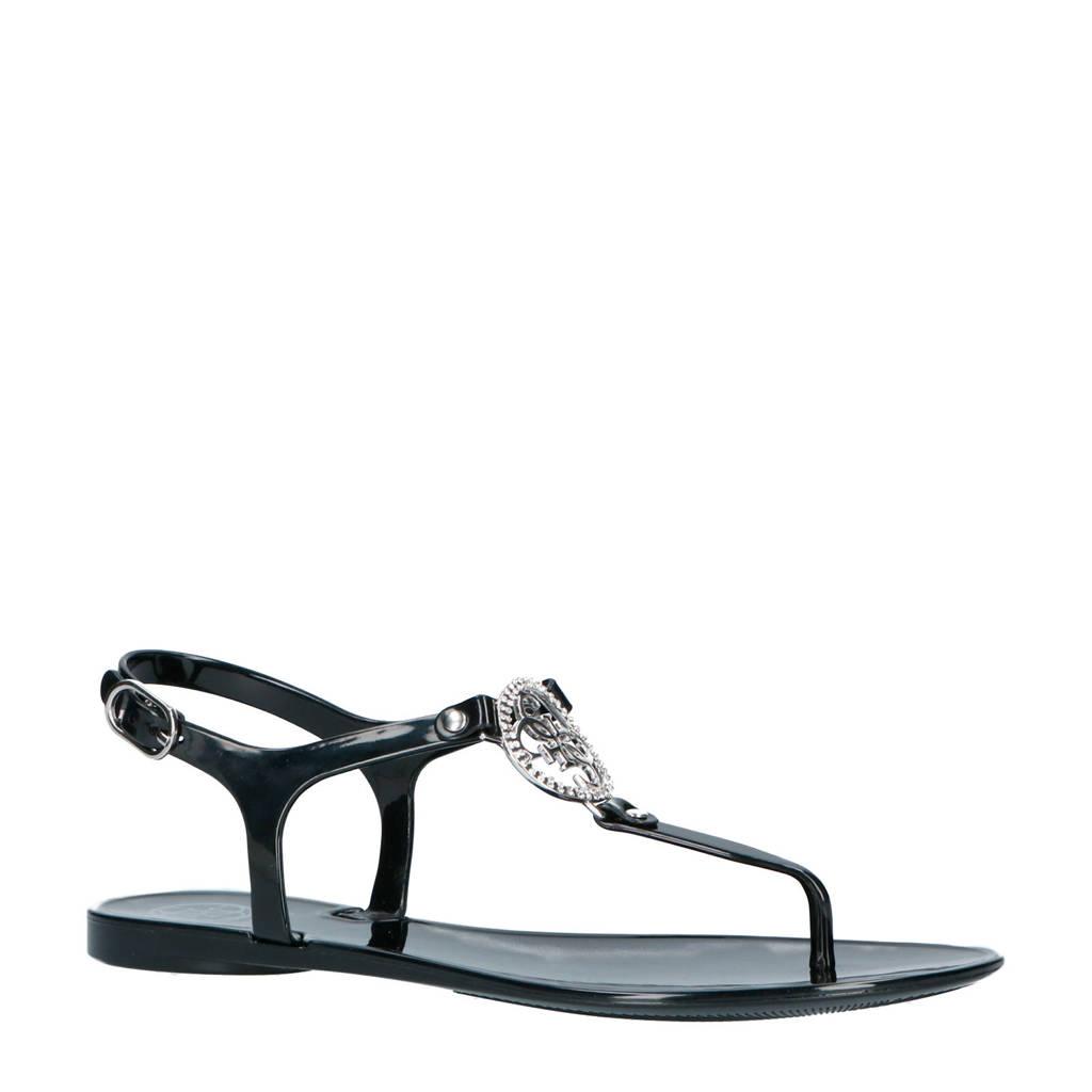 GUESS sandalen zwart, Zwart/zilver