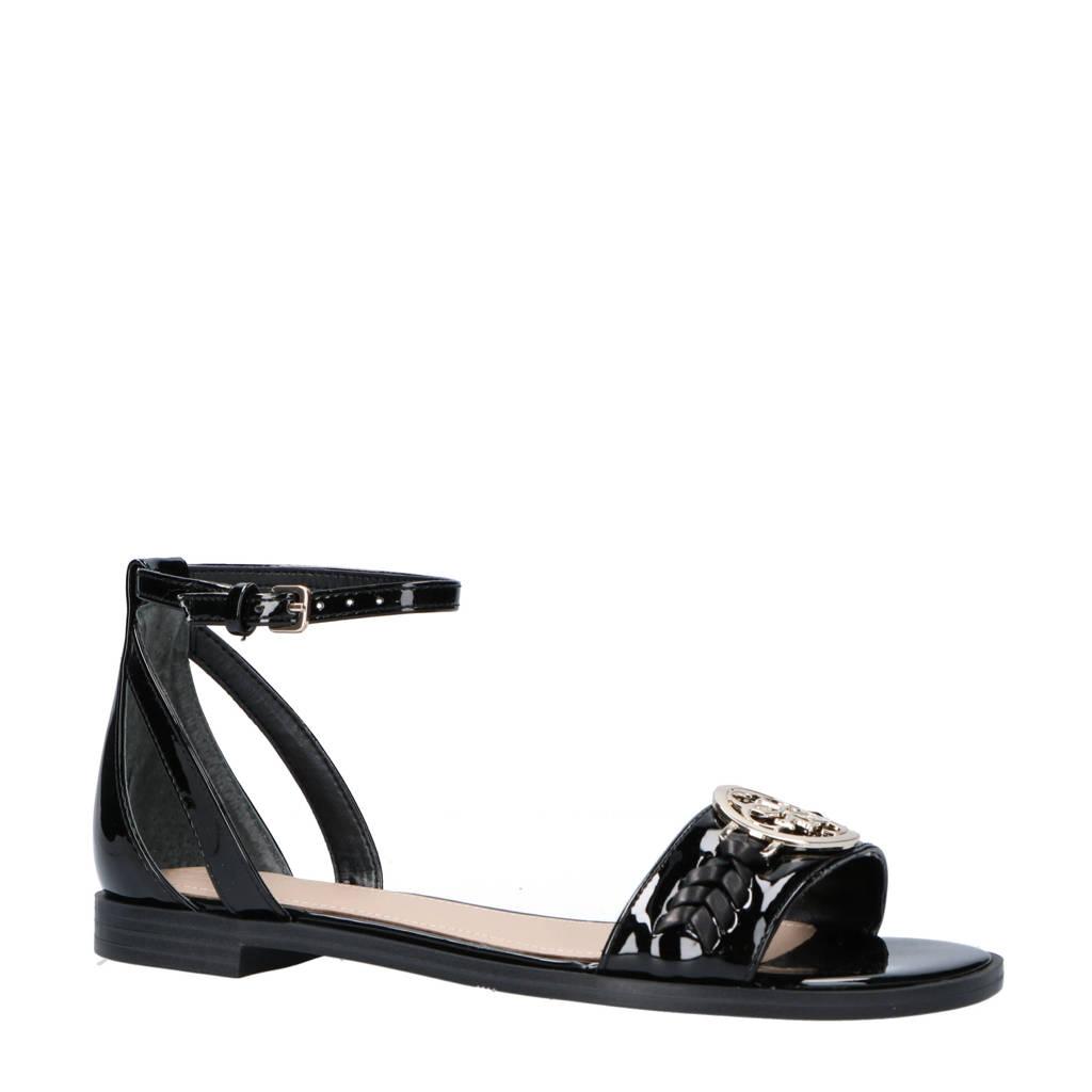 GUESS sandalen zwart, Zwart/goud