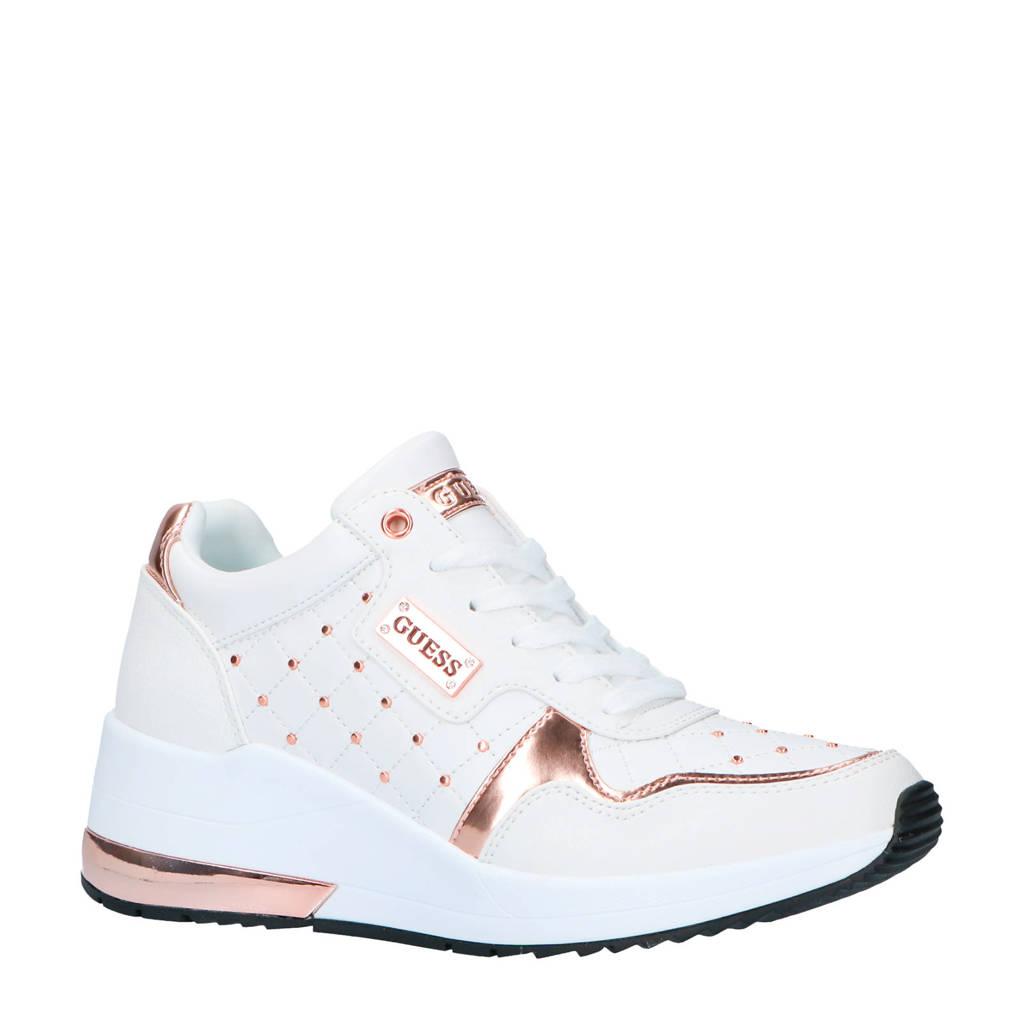 GUESS  sneakers wit/koper, Wit/koper
