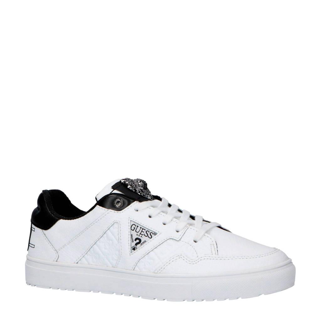 GUESS  leren sneakers wit, Wit/zwart