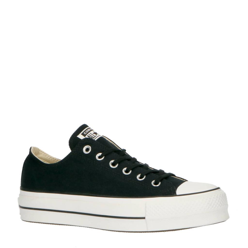 Converse   Chuck Taylor All Star Lift OX sneakers zwart, Zwart/wit