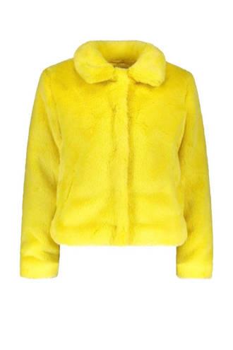 gevoerde teddy jas geel