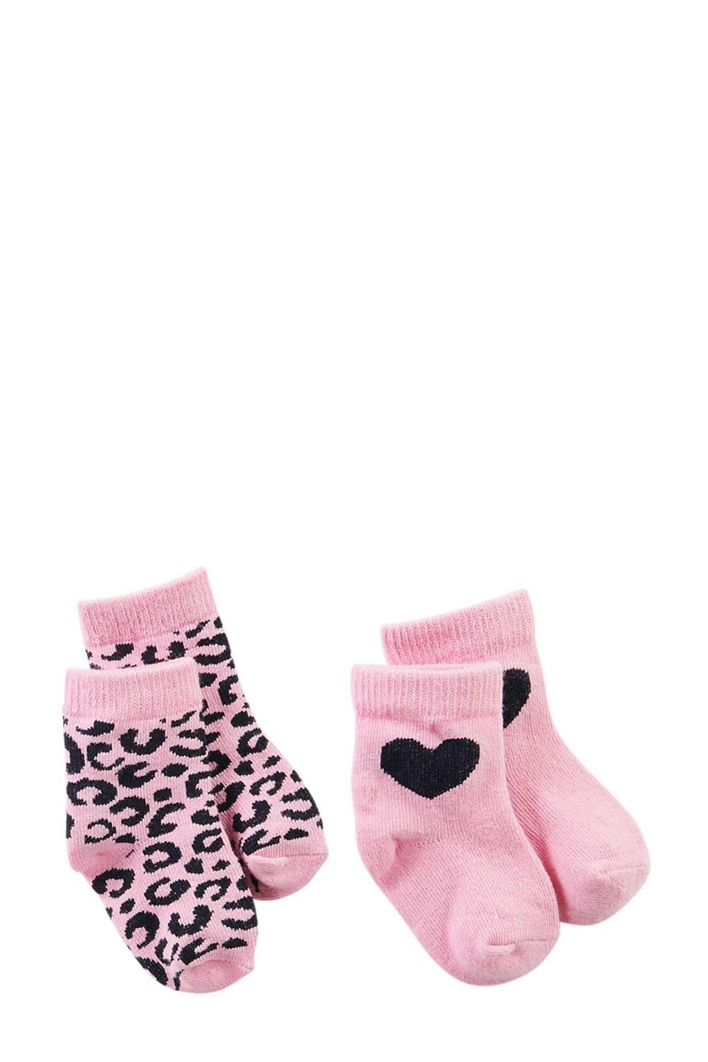 Z8 newborn baby sokken -  set van 2, Roze