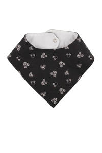 Zero2three bandana slab Mickey Mouse print off black, Off black/wit