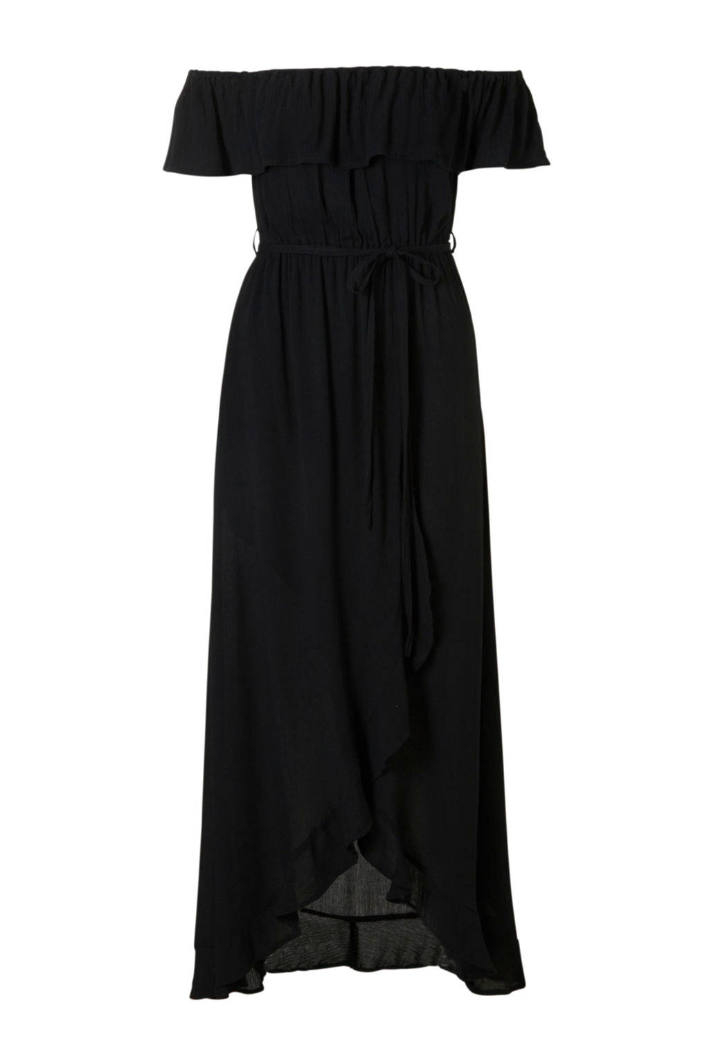 River Island jurk met volant, Zwart