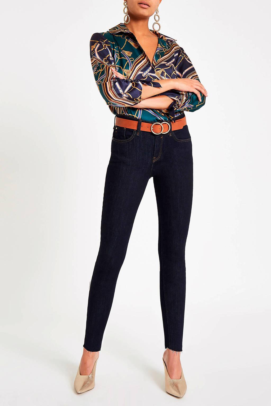 River Island blouse met all over print, Groen/ blauw/ bruin