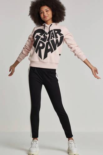 hoodie met printopdruk roze