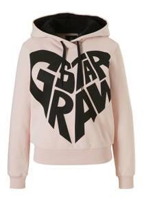 G-Star RAW hoodie met printopdruk roze (dames)