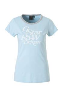 G-Star RAW T-shirt met printopdruk blauw