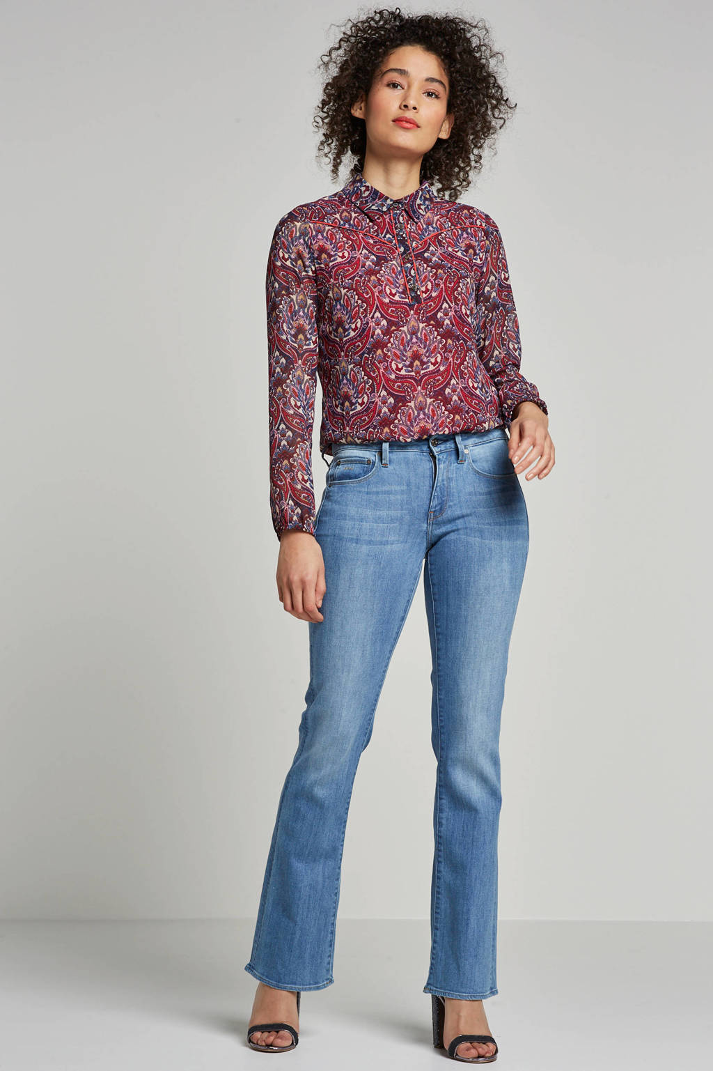G-Star RAW flared fit jeans blauw, Blauw