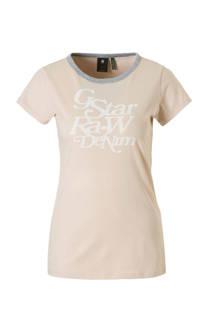 G-Star RAW T-shirt met printopdruk roze