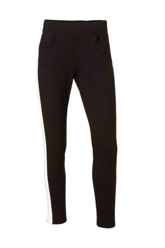 slim fit broek zwart