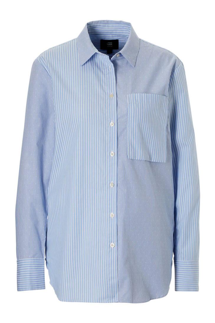 G blouse gestreepte RAW blauw Star pCCzxqYwAn