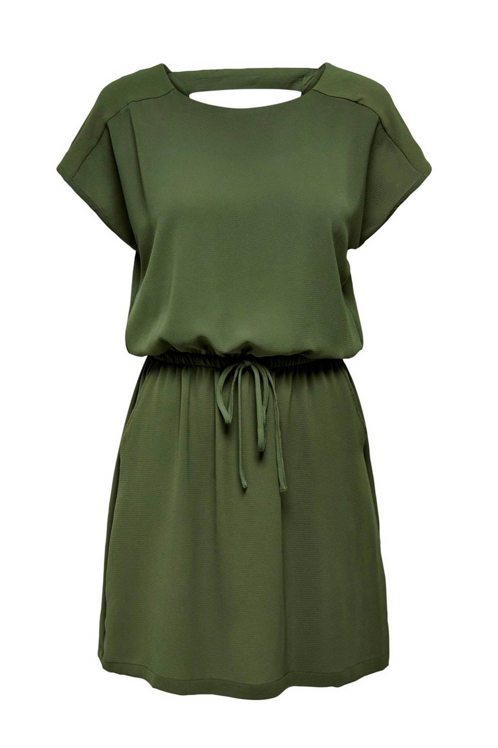 ONLY jurk met open detail, Groen