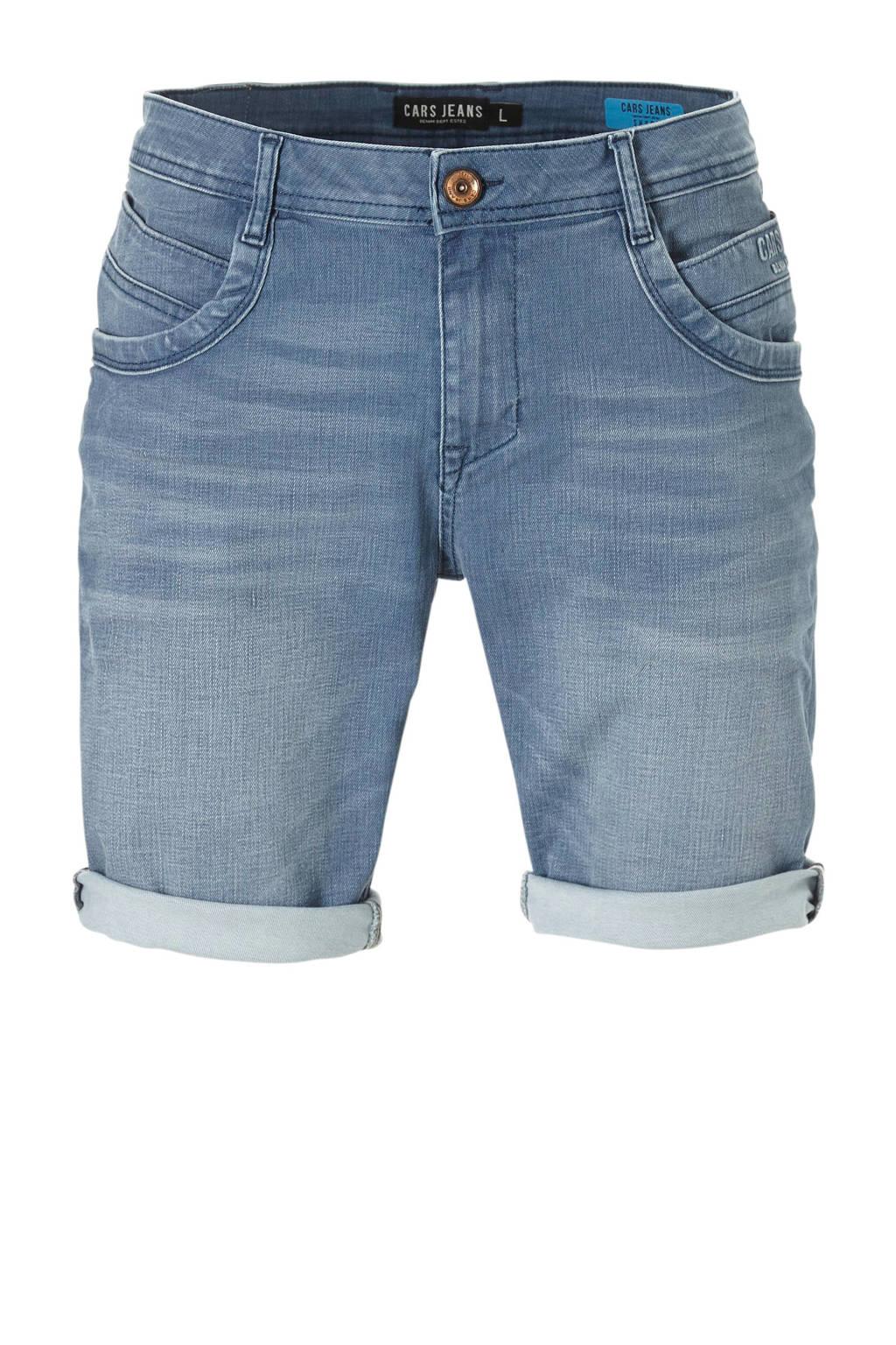 Cars jeans short, Bleached denim