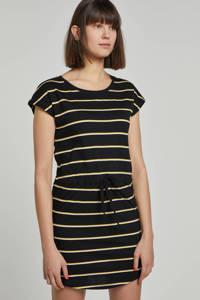 ONLY jurk May met strepen, zwart/ wit/ geel