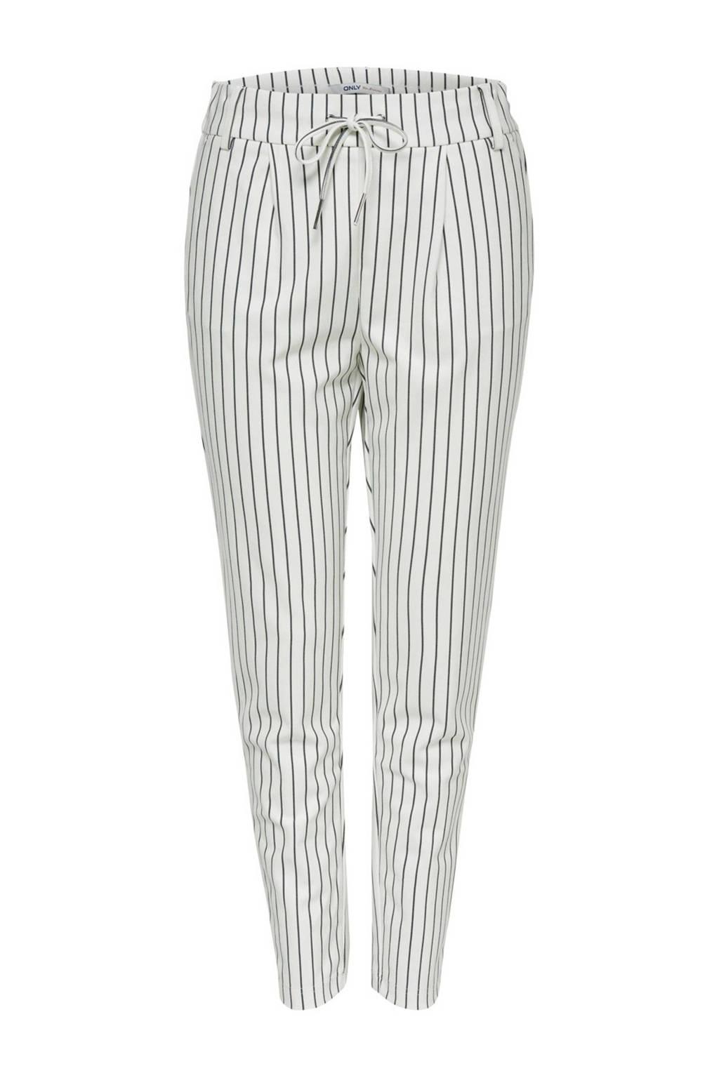 ONLY gestreepte broek, Wit/zwart
