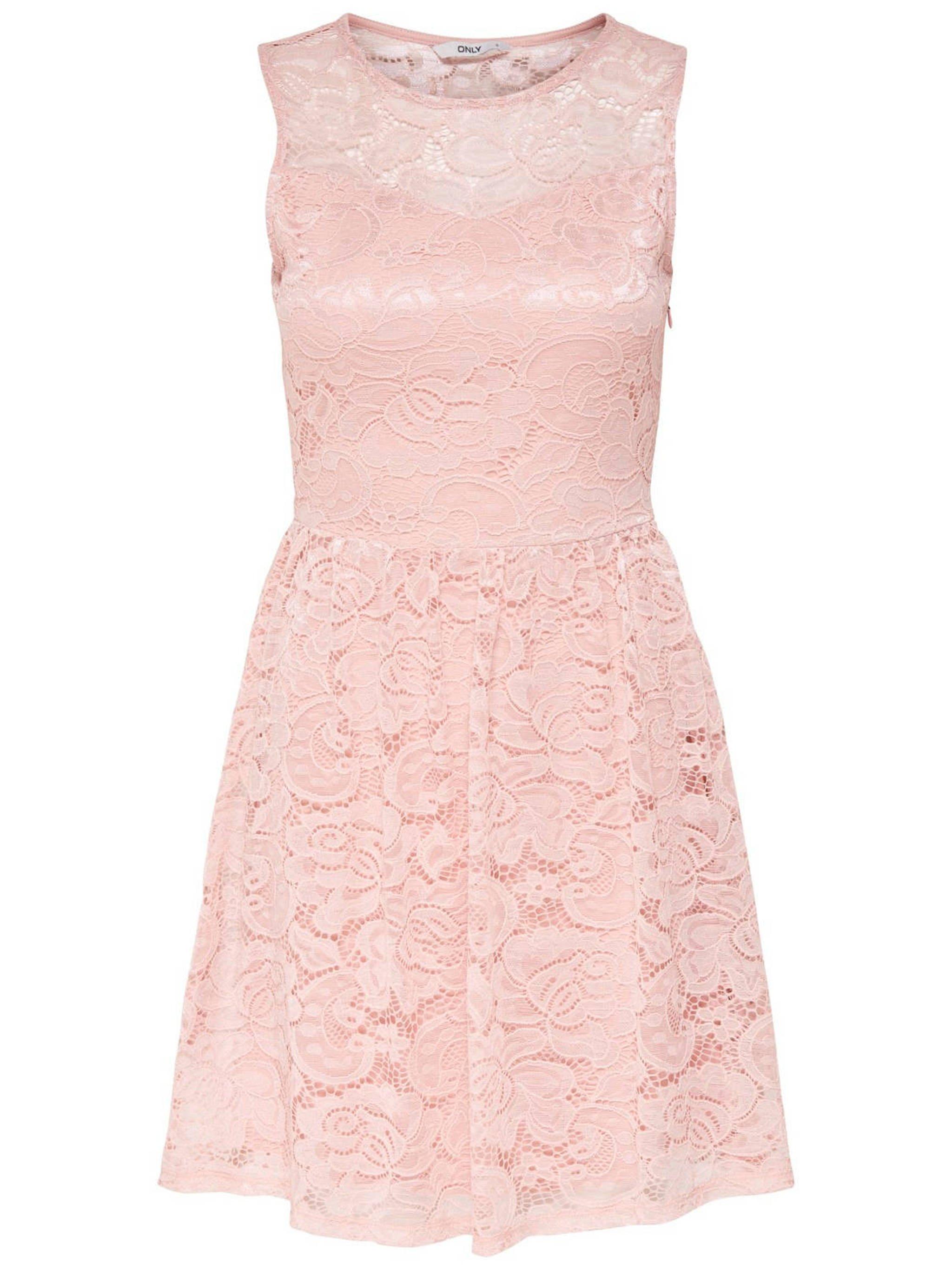 Nieuw ONLY kanten jurk roze | wehkamp HV-56