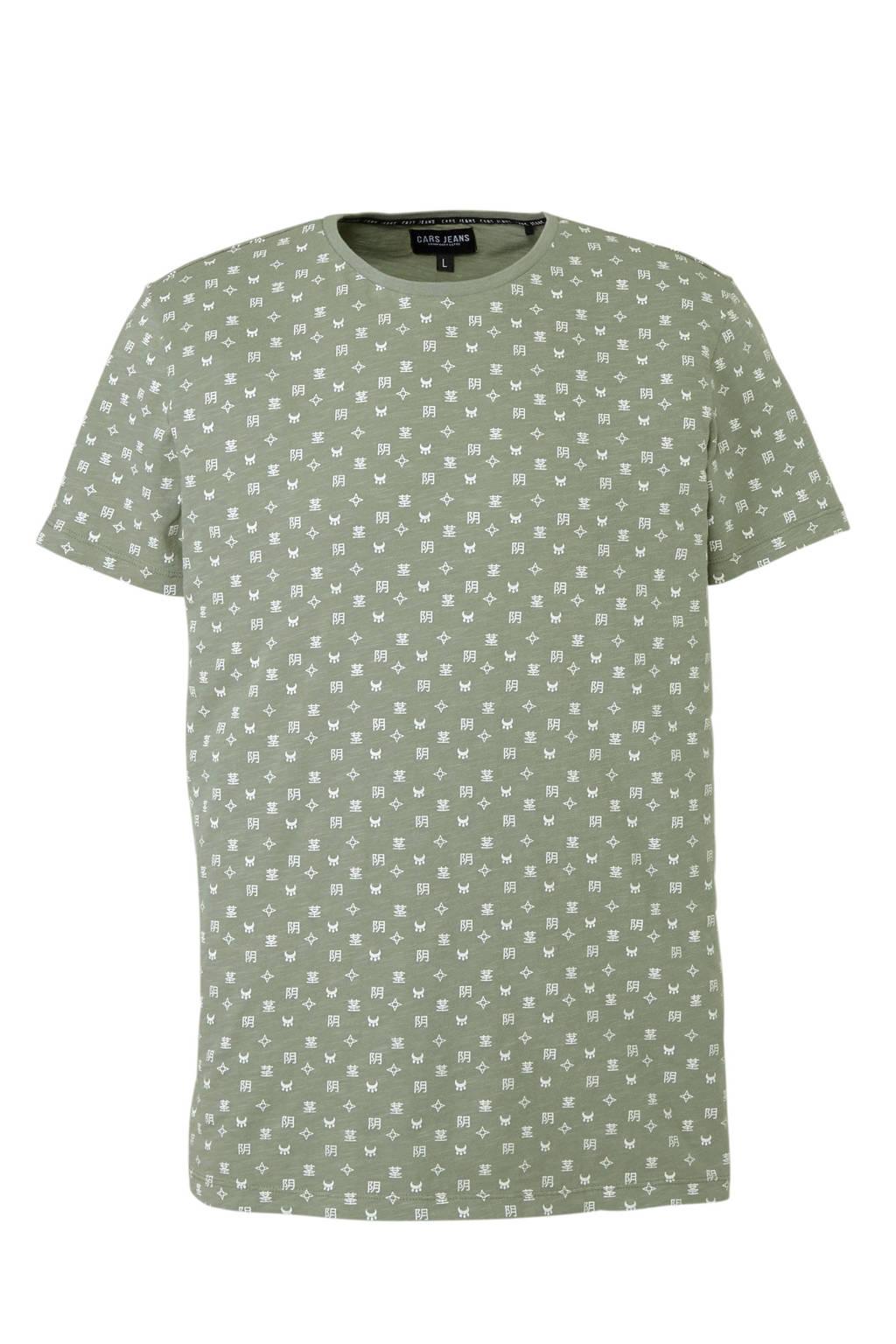 Cars T-shirt, Groen/wit