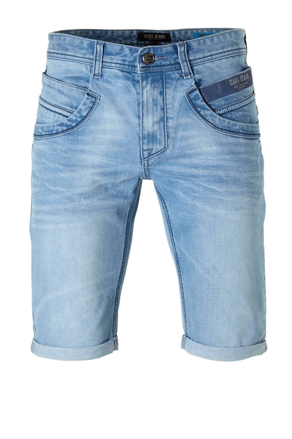 Cars slim fit jeans short, Bleached used
