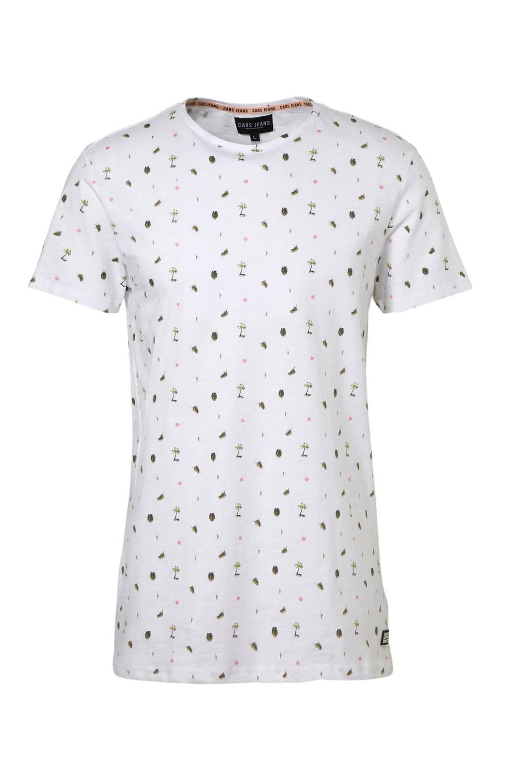 Cars T-shirt met print wit, Wit