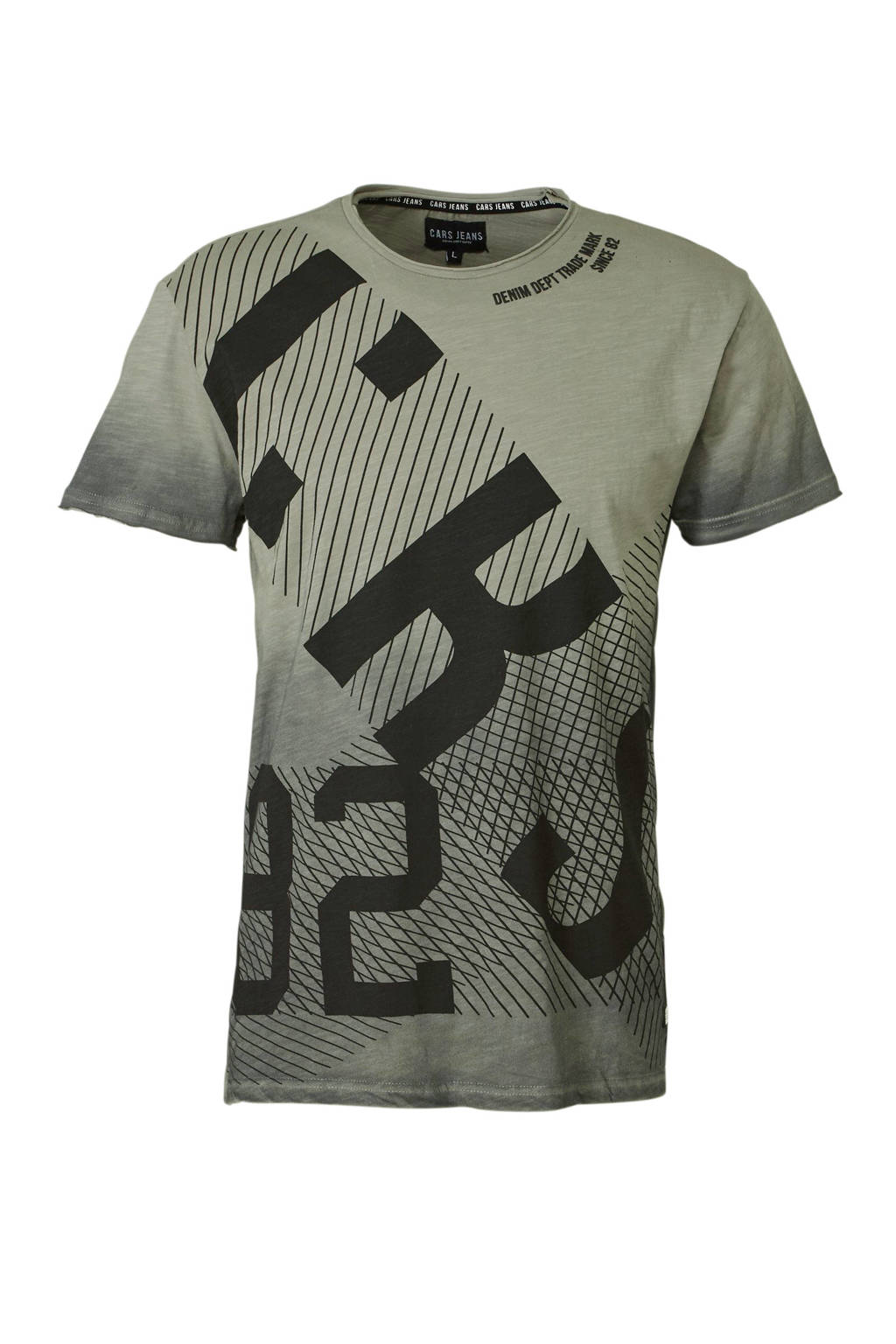 Cars T-shirt met print grijsgroen, Grijsgroen