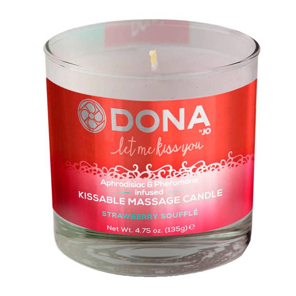 Dona Kissable Massage Kaars Aardbei Soufflé - 225 ml