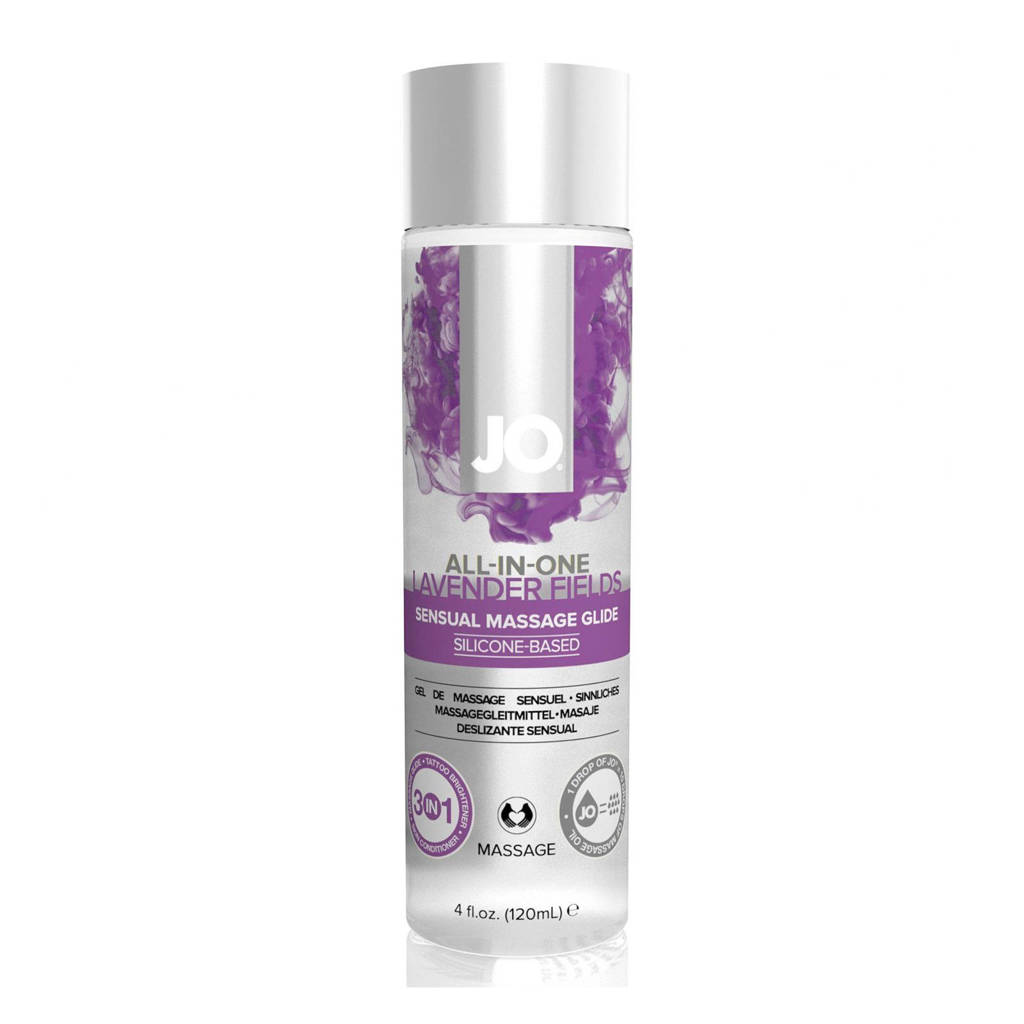 System JO All-in-One Sensual Massage Glide lavendel - 120 ml, Transparant