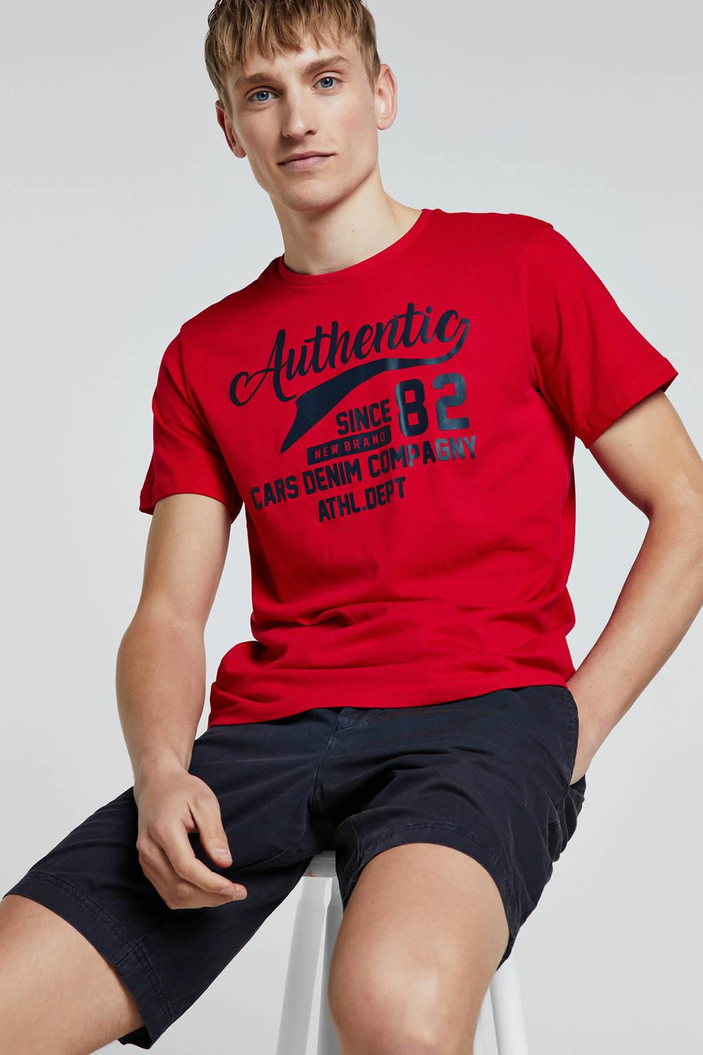 Cars T-shirt, Rood