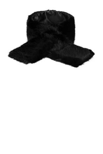 imitatiebont sjaal zwart